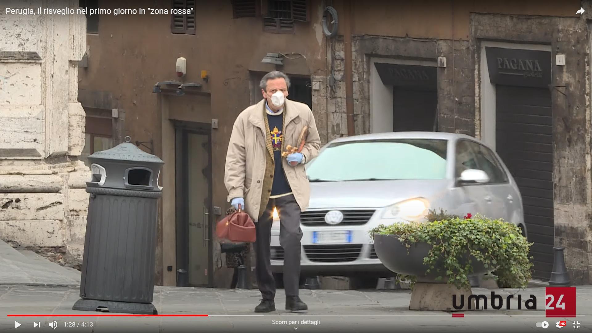 Perugia, il risveglio in zona rossa